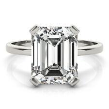 DIAMOND ENGAGEMENT RING E VS2 1.9 CARAT SOLITAIRE EMERALD ECO FRIENDLY PLATINUM