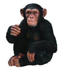 Vivid Arts Sitting Chimpanzee Resin Ornament Indoor Outdoor Garden Ornament
