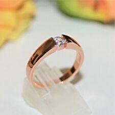 Zirkon Brillant-Imitat Herren Damen Ring RotGold 10K GP (375pl) Gr 70 Ø22,3mm