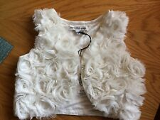 new..autograph @ marks & spencer girls cream waistcoat...age 3-4 yrs..rp £16