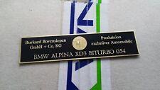 BMW Alpina E90 E92 E93 E60 E63 E87 E53 console dash plate B3 B5 B6 B7 D3 TURBO