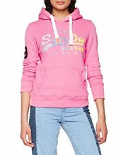 Sweat À capuche Superdry Vintage Logo Stripe Pink Rose XS
