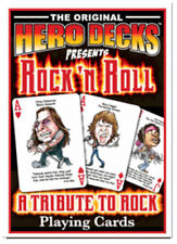 Playing Cards for Rock 'n Roll Fans HeroDecks Music Poker Collector Collectibles