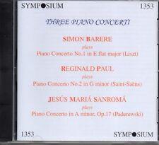 THREE PIANO CONCERTI - BARERE - PAUL - SANROMA - SYMPOSIUM - SEALED
