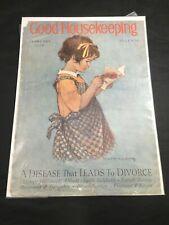 Vintage Good Housekeeping Cover Februay 1928 Jessie Wilcox Smith Illustration