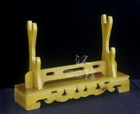 High Quality Large Size Real Wooden 2 Layers Sword Holder Stand Rack Display