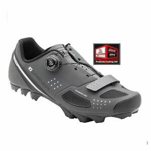 New, Louis Garneau Men's Granite 2 Mountain Bike MTB Shoes, Grey, Size: 8