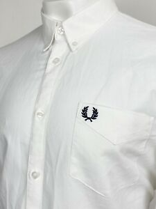 Fred Perry   Long Sleeve Oxford Shirt XL (White) Mod Scooter Skins 60s Casuals