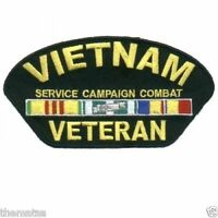 "VIETNAM VETERAN SERVICE CAMPAIGN COMBAT MEDAL 5"" EMBROIDERED PATCH"