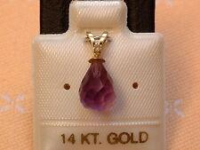 Exclusiver Amethyst & Diamant Anhänger - 14 Kt. Gold - 585 - Briolett Schliff -2