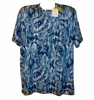 Robert Graham Blue Paisley Design Men's T- Shirt Shirt Sz XL Classic Fit $118