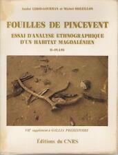Fouilles et Pincevent Analyse Ethnographique Habitat Magdalénien CNRS - PLANS