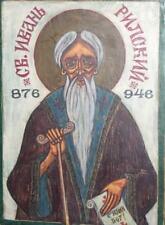 1999 ORTHODOX HAND PAINTED ICON SAINT JOHN OF RILA