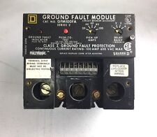 Square D Gfm100Fa Ground Fault Module Series 2 Class I Protection 100A 600 Vac