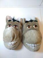 Shrek Dream Works Plush Donkey Slippers House Shoes Size 11-12 Preowned!