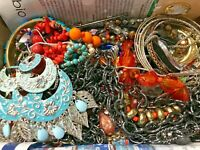 MEGA VINTAGE NOW ESTATE JEWELRY LOT 2 LBS Necklaces ALL WEARABLE COLDWATER CREEK