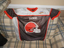 Cleveland Browns reversible youth flag football jersey sz L-Y