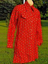 Nos Vintage 1960 70s Tunic Shirt Mini Dress GoGo Sizzler Mod Rockabilly Shift XS