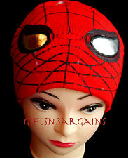 Double Knit Boys Beanie Spiderman Toddler Child Winter Red Cap Hat 3-5y Baby