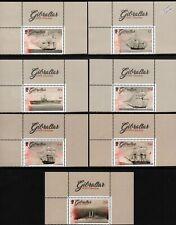 HMS GIBRALTAR Royal Navy Ship Warship Stamp Set / Sheet Margins (2017 Gibraltar)