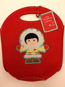 Beautiful BNWT Red Felt Xmas Eskimo Bag