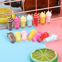 2Pcs 1:12 Dollhouse mini resin ice cream cups model toys3C