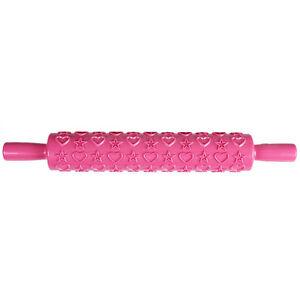 Embossed Rolling Pin 12 Designs Cake Fondant Textured Decorating Craft Tools UK