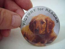 1980'S RONALD REAGAN POLITICAL PINBACK, VICTORY FOR REAGAN, ESTATE BUY