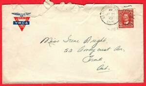 🍁 1942 Military Post Office 101, ST. THOMAS, ONTARIO on Y.M.C.A. Stationery