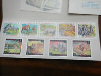 LOT FUJEIRA FAUNA/ANIMALS SET IMPERF. MNH  PRINTER COLOR PROOFS SEE PICS