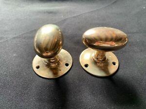 Pair of Reclaimed Antique Bronze Edwardian Door Knobs Handles Furniture (BTS401)