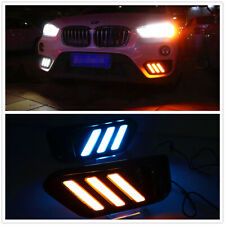 For BMW X1 F48 2016 2017 2018 2019 DRL Tricolor LED Daytime Running Light  DNN