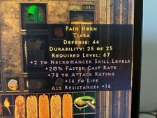 Diablo 2 Resurrected D2R Softcore PC - +2 Necro 20% FCR 16% All Resist Tiara