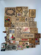 Lot of 72~Rubber Stamps~Random~Art Impressions, Stamps in Motion