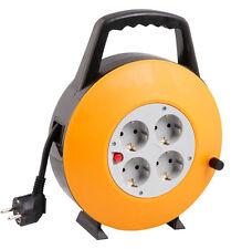 10m Kabelbox Kabelrolle Kabeltrommel Verlängerungskabel 4 Steckdosen SL-016