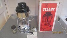 NEW CHROME TILLEY LAMP BOXED WITH FUNNEL METHS  GLASS AND IGNITER + INSTRUCTIONS