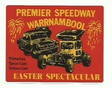 Premier Speedway Warrnambool Easter Spectacular Old Style Retro Sticker