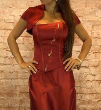 Abendkleid Dreiteiler Corsage Abschlussballkleid Maxikleid Kleid Gr, 34-44