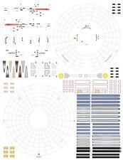 grid lines only 1/1000 Polar Lights Star Trek TOS enterprise model kit Decals