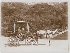 Espagne, Gibraltar, transport en Calèche  Vintage silver print, Provenant d&#039