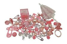Floating Pink Baby Shower Pearls + Gems-Jumbo/Assorted sizes Vase Decorations