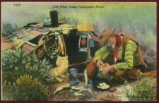 102620R OLD WEST TEXAS COWHAND'S HOME VINTAGE LINEN COWBOY POSTCARD