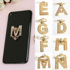 Letter Alphabet 360 Rotating Cell Phone Bracket Grip Finger Ring Stand Holder