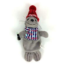 Coca Cola Lucky The Seal With Scarf Hat Bean Bag Plush Toy 1999