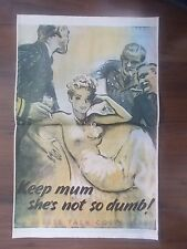 VINTAGE STYLE WWII PROPAGANDA POSTER - CARELESS TALK COSTS LIVES