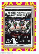 "2014 WACKY PACKAGES TERRIBLE TV ""GOLD"" - THE VAMPIRE DAIRIES #4"