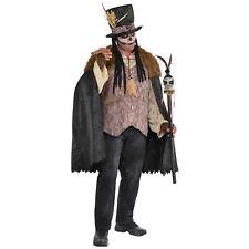 Mens Witch Doctor Halloween Costume Voodoo Fancy Dress Plus Size
