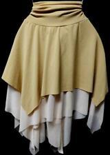 Misses me beige asymmetrical hem plus size spandex sexy gypsy fairy skirt 2X