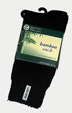 3 PAIRS MENS SZ 6-11 BLACK 75% BAMBOO CUSHION FOOT EXTRA THICK WORK/HIKING SOCKS