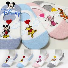 4 Pairs Women Big Kids Disney Character Socks Balloon Mickey Mouse Daisy Socks